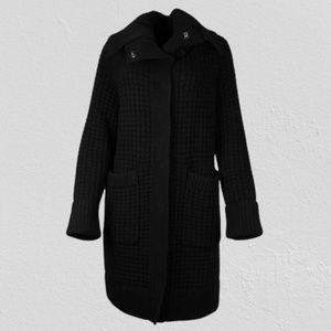 Burberry Wool/Cashmere Waffle Knit Coat
